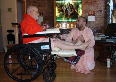 With Kirtanananda Swami