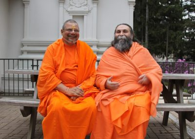 Prabhuji with Swami Pratyagbodhananda