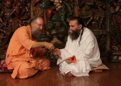 Prabhuji with Swami Mangalananda