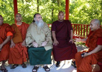 Prabhuji with Buddhist monks #2