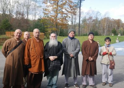 Prabhuji with Buddhist Monks
