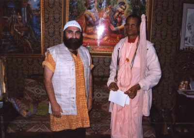With a devotee